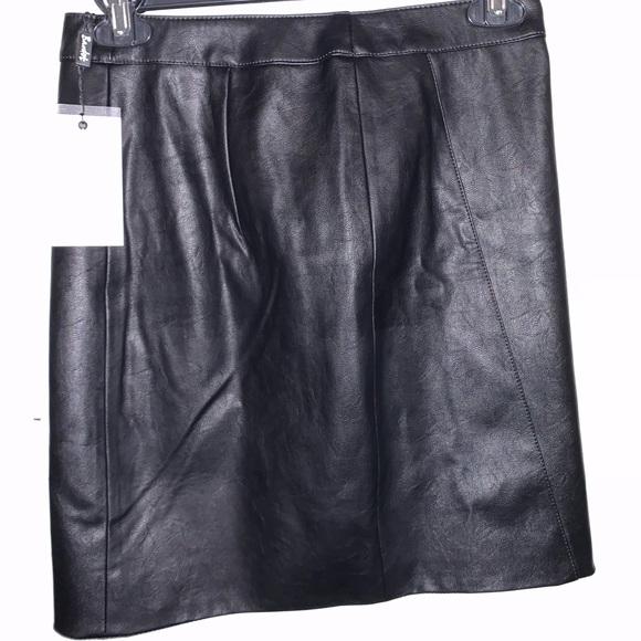 271a4eab3 Black leather skirt NWT